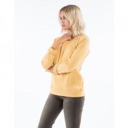 Billabong Womens crew neck sweatshirt gold