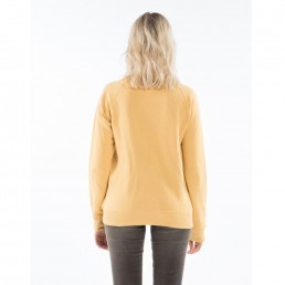 Billabong Womens crew neck sweatshirt gold