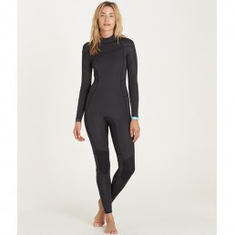 Billabong Synergy 5/4 back Zip black womens wetsuit