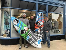 Ross Williams Scott Gardner Aaran Williams Earth Wind Water Surf Shop