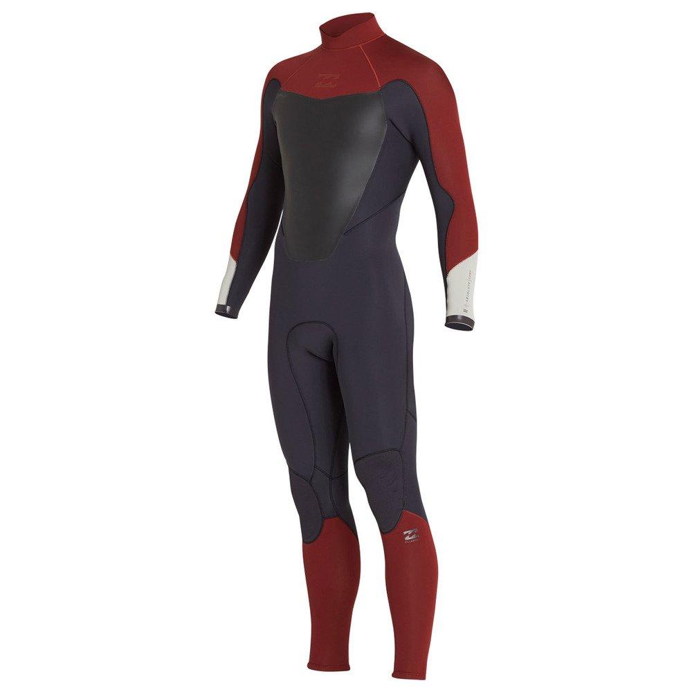 Billabong Absolute 32 back zip wetsuit biking red