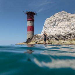IOW isle of wight needles sup freshwater bay paddle sea coast