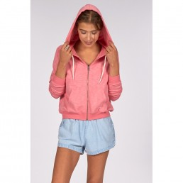 Billabong girls womens zip hoodie cropped long pink rose rosewater water cool cute summer light weight sale