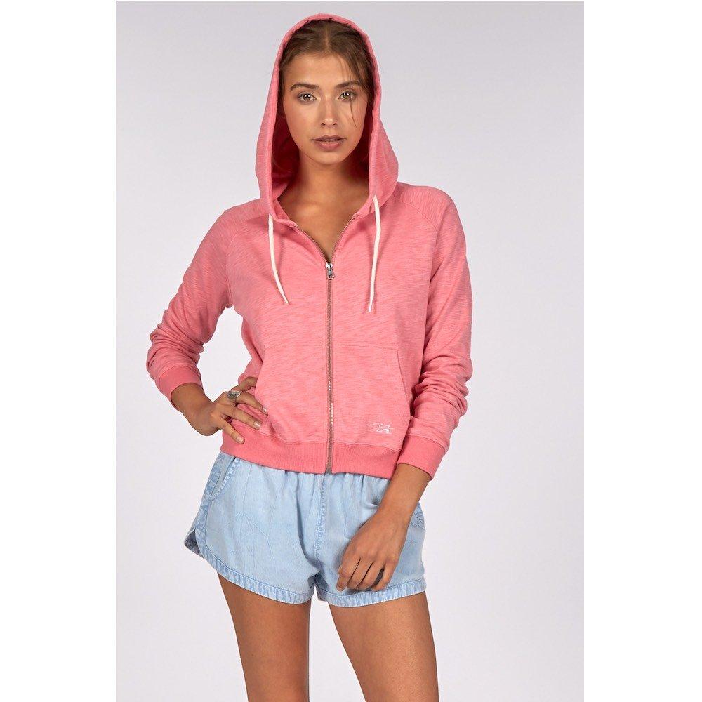 Billabong girls womens zip hoodie cropped long pink rose rosewater water cool cute summer light weight sale