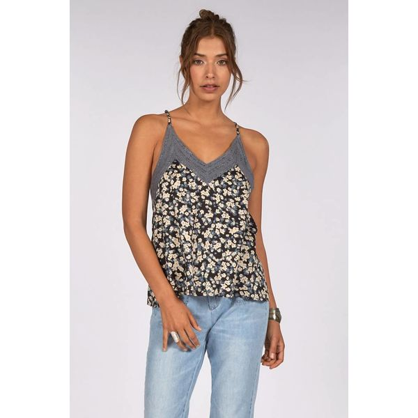 billabong top strappy floral flower blue camisole summer sale womens girls surf surfer