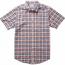 Lennox short sleeved shirt sleeves check blue red surf sale