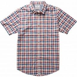 Lennox short sleeved shirt sleeves check blue red surf sale