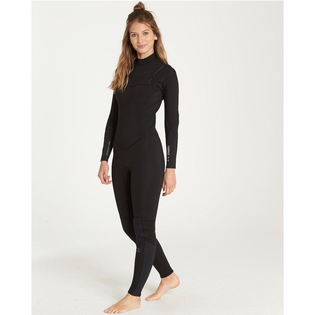 2f43ca3a63 billabong slate black chest zip Ladies womens girls winter wetsuit surf  surfing 5 4 5