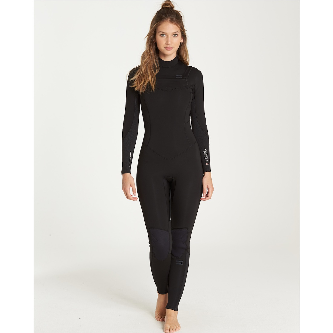 d7990c1ff0 billabong slate black chest zip Ladies womens girls winter wetsuit surf  surfing 5 4 5