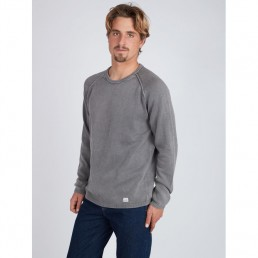 billabong sweater jumper crew vintage wave washed grey winter sale new mens