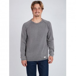 Black Friday sale billabong sweater jumper crew vintage wave washed grey winter sale new mens