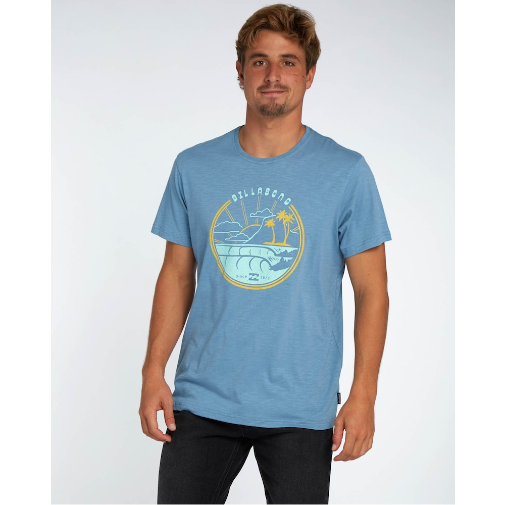 Blue The Powder Road T – Organic Cotton Along Shirt Billabong IY76gybmfv