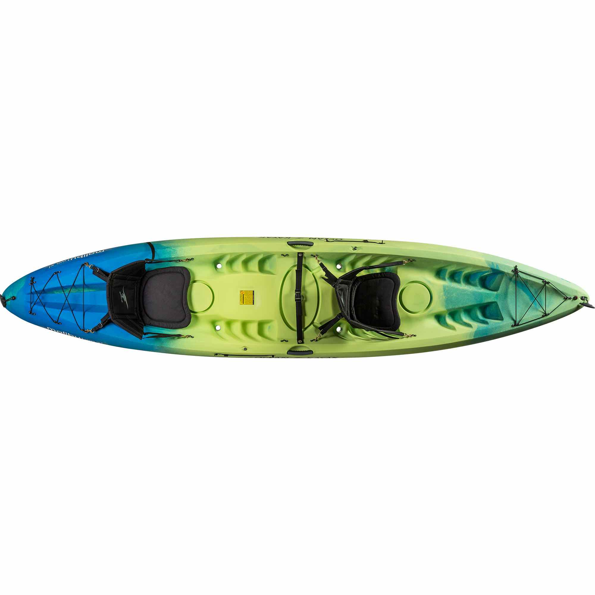 ocean kayak Malibu two 2 xl Tandam double kayak 3 person 2 person uk England family holiday camping seaside fun surf coast isle of wight paddles adventure activities earth wind water surf tackt-isle shop package deal