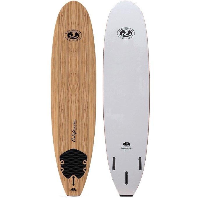 8ft California Board Company Cal Bear soft surfboard cbc california board company wood deck wooden learner beginner longboard progression learn to surf isle of wight uk