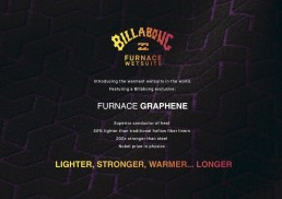 Billabong Furnace Graphene lighter stronger warmer longer