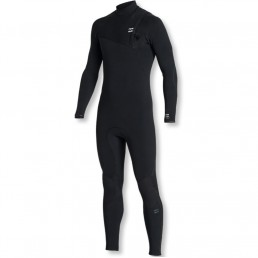 Billabong Fall 2019 Winter 2020 Furnace Comp Zipperless Zip free Wetsuit Black