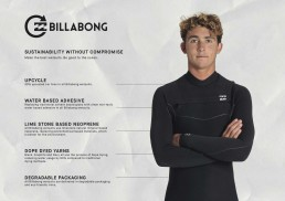 Billabong sustainability upcycle water based adhesive save our seas