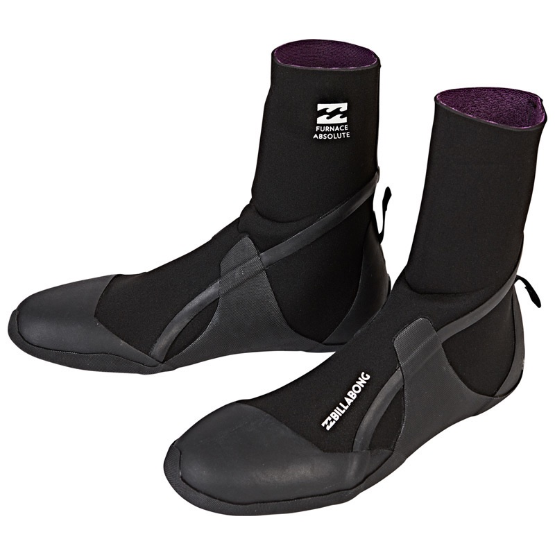 Billabong Furnace Absolute Round Toe Boots 5mm Graphene inner warm winter surfing uk south coast isle of wight accessories Christmas gift xmas present surf surfing