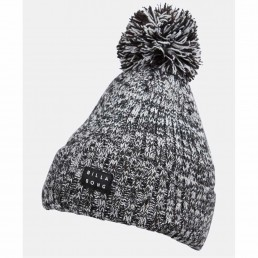 billabong vince beanie black pom pom winter cold weather surfer