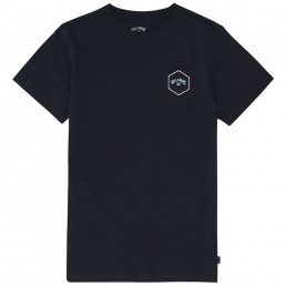 Billabong Access Tee Navy Gold hexagon