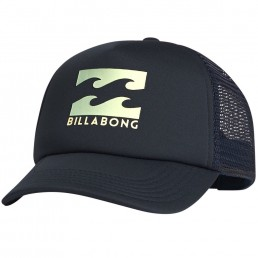Billabong Trucker Cap Indigo Navy Blue. Kids boys girls. Wave Logo, Mesh, Adjustable Snap Back