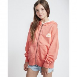 Billabong bright light zip hoody fleece for teen girls sunkissed coral summer beach holiday surfer surfing isle of wight
