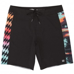 Billabong D Bah Pro Boardshorts Black Blue print. 19