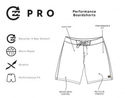 Billabong D Bah All Day Pro performance fit Boardshorts 4 way stretch. Environmentally conscious recycle plastic bottles to make shorts surf swim. Earth Wind Water Isle of Wight UK