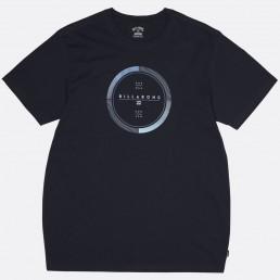 Billabong Full Rotator circle rotor print navy blue tshirt
