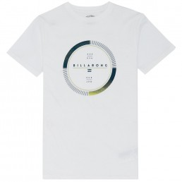 Billabong Full Rotator TShirt White circle print