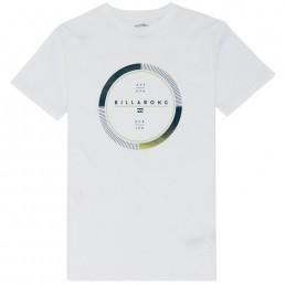 Billabong Full Rotator TShirt White circle print