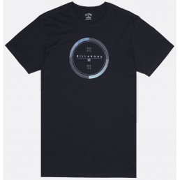 Billabong Full Rotator circle rotor print navy blue tshirt