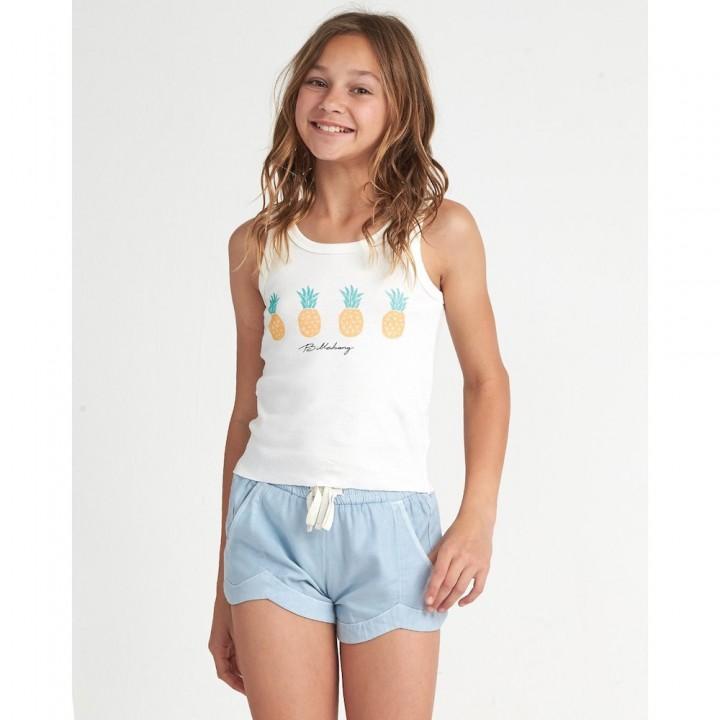 Billabong Aloha On Repeat Pineapple print vest tank tshirt surfer girls teens