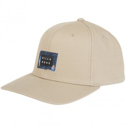 Billabong Plateau SnapBack Cap Khaki. Cotton twill adjustable snap back closure