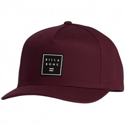 Billabong Stacked Trucker Cap Oxblood Red Burgundy Adjustable
