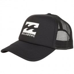 Billabong Trucker Cap white black. Kids boys girls. Wave Logo, Mesh, Adjustable Snap Back Earth Wind Water Isle of Wight Surf Shop