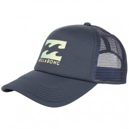 Billabong Trucker Cap Indigo Navy Blue. Wave Logo, Mesh, Adjustable Snap Back