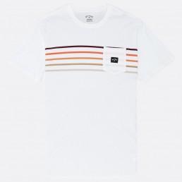 Billa bong Riot Spinner Tee stripe pocket t shirt black white rainbow tshirt surf clothes isle of wight