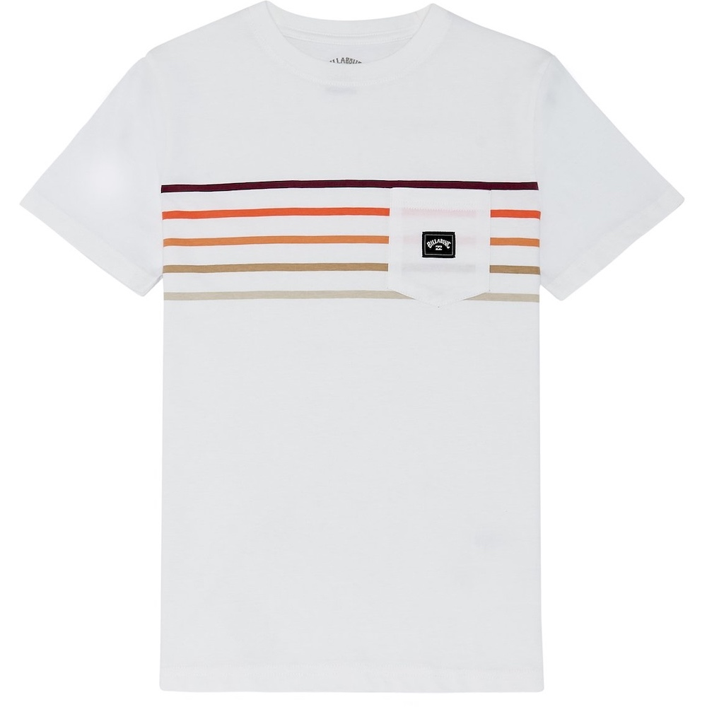 Billabong Riot Spinner Tee stripe pocket t shirt black white rainbow tshirt surf clothes isle of wight