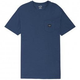 Billabong Stacked TShirt Denim Blue front pocket new arch logo
