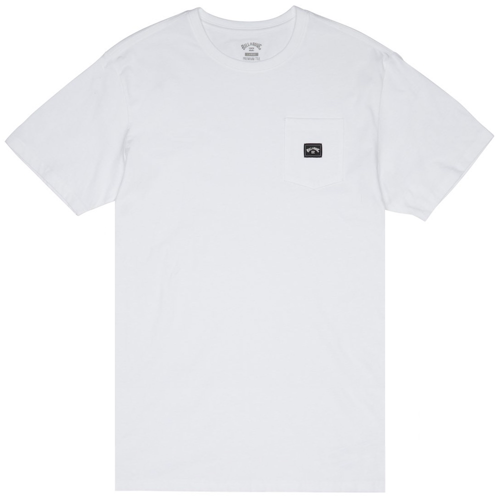 Billabong Stacked TShirt White front pocket new arch logo