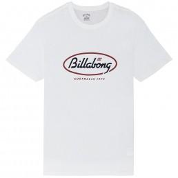 Billabong State Tee Australia 73 white retro print
