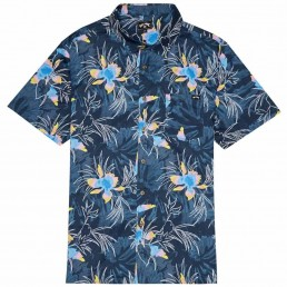 Billabong Sundays Floral Shirt Navy Blue Floral Hawaiian Flowers