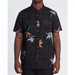 New Billabong 2020 Spring Summer Collection. Sundays Floral Short Sleeve Shirt Black/Orange. Tailored Fit. Earth Wind Water Isle of Wight UK