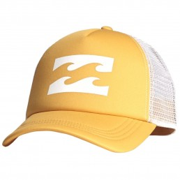 Billabong Trucker Cap Mango Yellow. Mesh adjustable snap back. Women's hats. Sun protection sea beach surf water sports