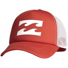 Billabong Trucker Cap Samba Red. Mesh adjustable snap back. Women's hats. Sun protection sea beach surf water sports