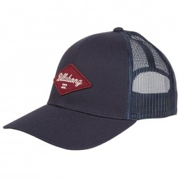 Billabong Walled Trucker Cap Indigo Navy Blue with mesh panel, adjustable snap back, diamond logo. Earth Wind Water Surf Shop Isle of Wight UK