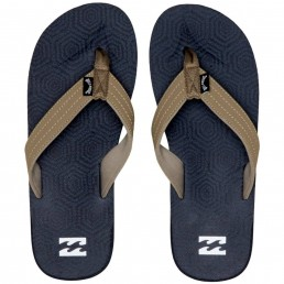 Billabong All Day Theme Flip Flops Navy Blue