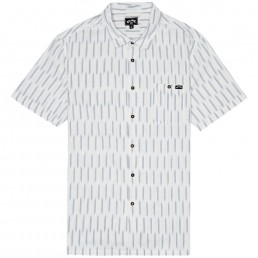 Billabong Sundays Jacquard print short sleeve white dark indigo Shirt smart casual mens new 2020