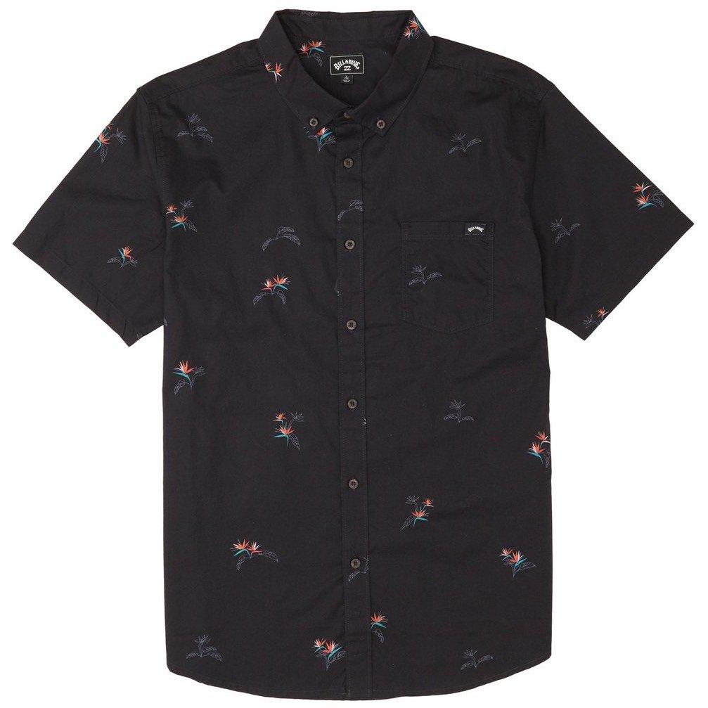Billabong Sundays Mini Shirt Black Aqua tropical print smart casual mens new 2020